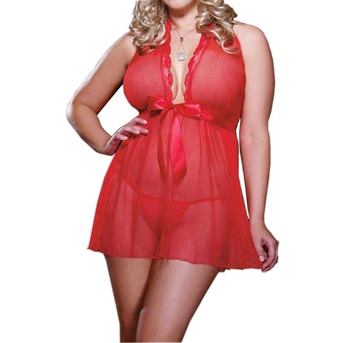 Lencería Mujer,RETUROM Moda Plus Size uniformes tentación ropa interior pijama