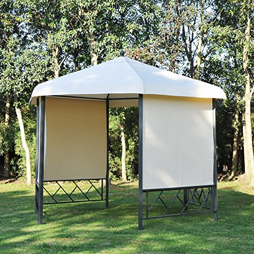 Outsunny 12' x 12' Steel Hexagonal Gazebo Canopy with Removable Side Panels by Outsunny (Image #3)