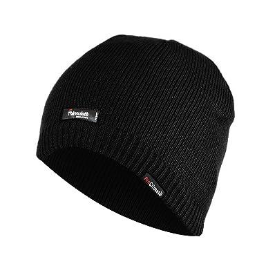 Mens Thermal Thinsulate Waterproof Winter Hat (3M 40g) (L XL) (Black ... f86916f22b8