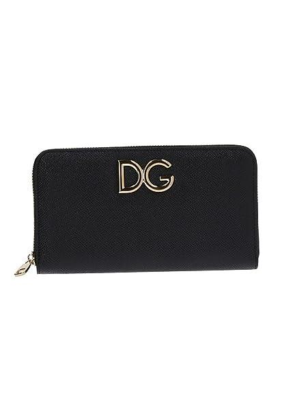 5ce9f04d61 Dolce E Gabbana Portafoglio Donna Bi0473ah036hfe10 Pelle Nero: Amazon.it:  Abbigliamento
