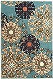 Cheap Ottomanson Ottohome Collection Seafoam Damask Design Area Rug with Non-Skid (Non-Slip) Rubber Backing, Seafoam, 5'0″ x 6'6″