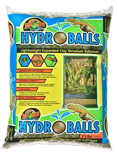 2.5 Pounds, Hydroballs & Mesh for Landscaping Real Plants Clay Terrarium Substrate by Zoo Med