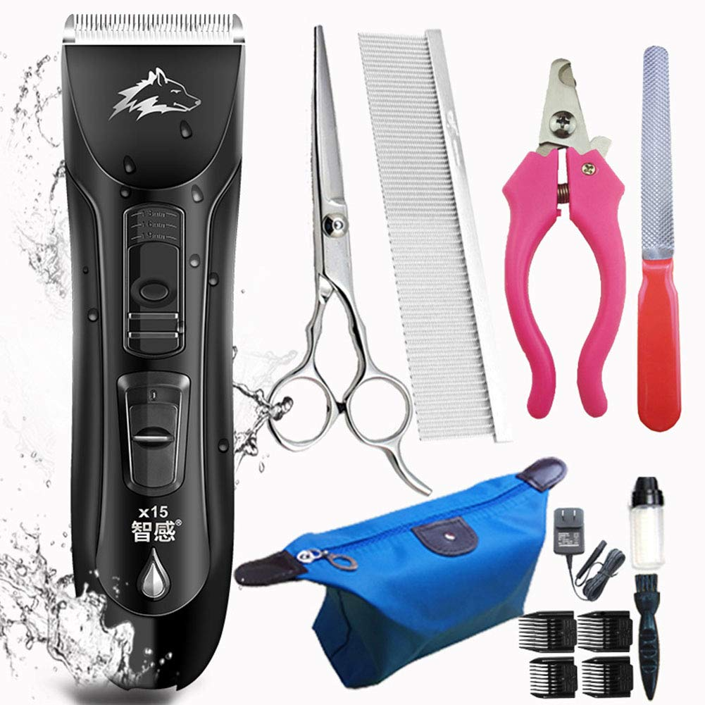 Dog Clippers, Professional Pet Grooming Kit Rechargeable. Heavy Duty Cordless Clipper Low Noise for Small, Medium, and Large Dog, Cat, Horse and Other Pets