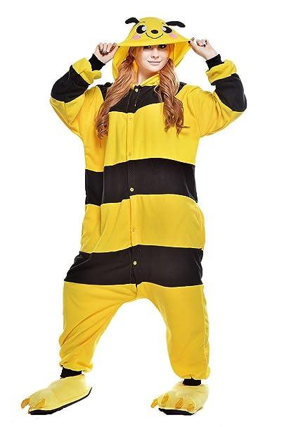 Mujeres Hombres Adultos amarillo abeja Unisex Anime Navidad Halloween Carnaval Cosplay Kigurumi disfraz disfraz Onesies Pijama