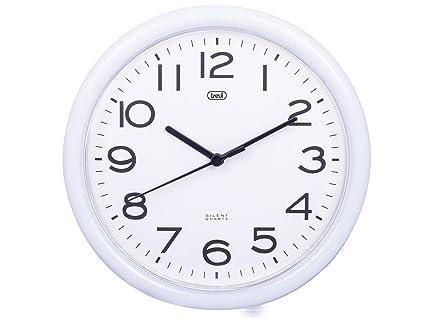 Trevi OM 3301 Orologio da Muro al Quarzo con Movimento Silenzioso ...