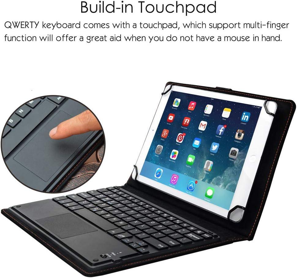 Eoso TouchPad Funda de Teclado para tabletas, Teclado inalámbrico Bluetooth 2 en 1 con touchpad y Funda de Piel: Amazon.es: Electrónica