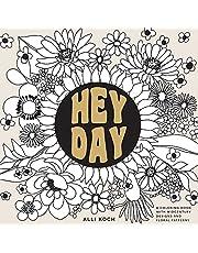 Heyday: A Retro Flower Design Coloring Book