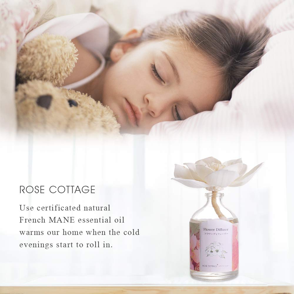Rose Cottage Reed Diffuser Set Lavender Scented Sticks Oil Diffuser Room Fragrance for Bedroom Living Room Office 100ML/3.4Oz. by Rose Cottage (Image #3)