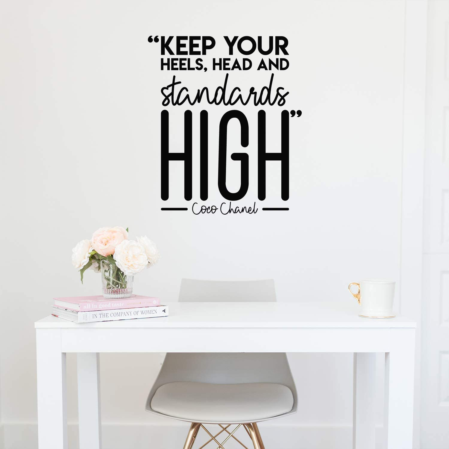 Vinyl Wall Art Decal - Keep Your Heels, Head And Standards High - 26