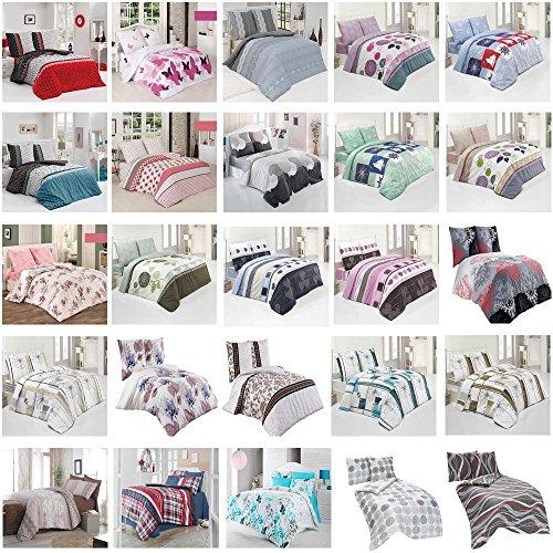 Bettwäsche Bettgarnitur Baumwolle Renforce mit Reißverschluss 5 Größen und vielen Farben Öko-Tex (135x200 cm, Design 3)