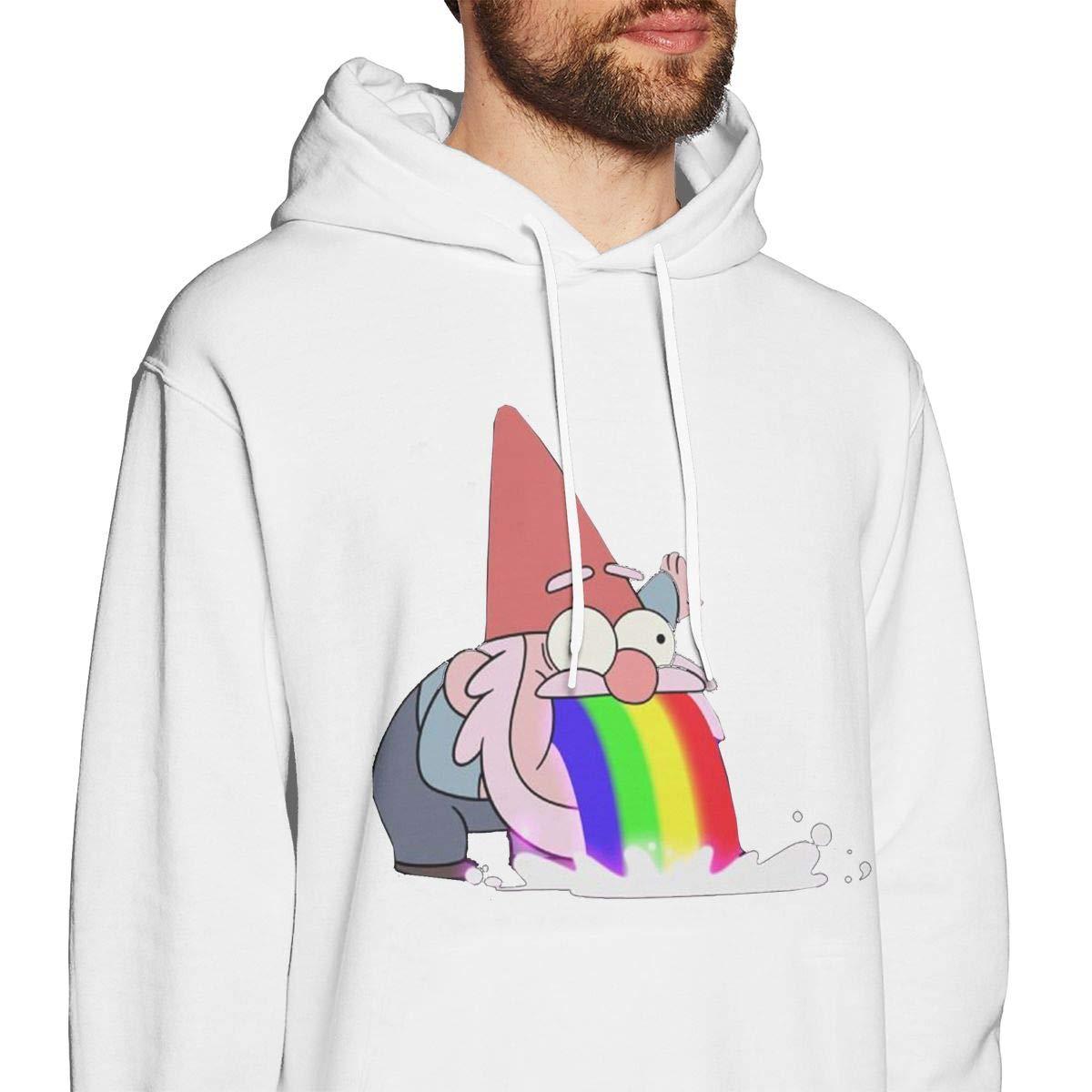 Mens Hooded Sweatshirt Gravity Falls Gnome Vomit Deep Unique Classic Fashion Style White