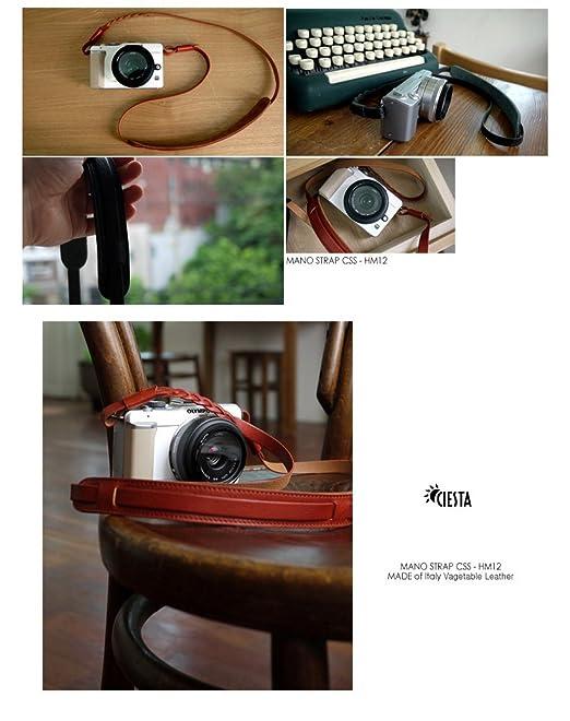 Ciesta css-hm12-a04 mano Leather Cámara correa para cámara réflex ...