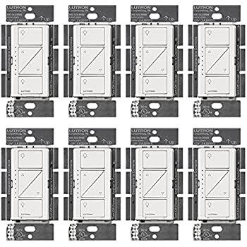 Lutron PD-10NXD-WH Caseta Pro In Wall Dimmer 250W LED (8 Pack