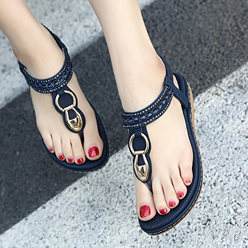 adcb3be05c6edf DolphinGirl Bohemian Summer Vacation Flat Thong Sandals
