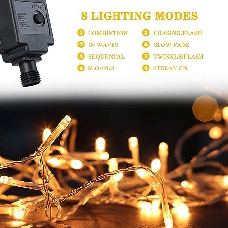 LED Ghirlanda di luci esterno 50-Fiamma Bianco Caldo//TRASFORMATORE//220v//7,35 M