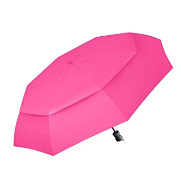 60 MPH Infrangible Paraguas de Viaje Procella, Anti viento testado por los Paracaidistas en la