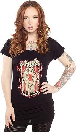Sourpuss Amazing Tattooed Lady Tunic Top from Clothing