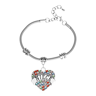 "ddbcab9a817f6 Luvalti ""Niece"" Charm Bracelets 