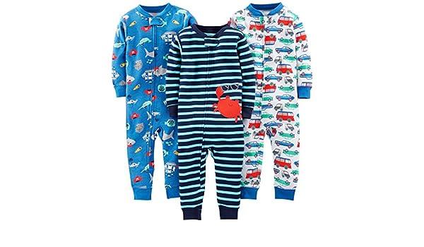 Infant-and-Toddler-Bodysuit-Footies Beb/é-Ni/ñas Simple Joys by Carters Paquete de 2 Cremalleras de Algod/ón con Pie para Dormir Y Jugar
