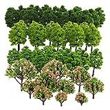Jili Online Pack of 70 Model Trees DIY Train Street Railway Scenery Landscape Accssory 1.18-3.54inch HO Z TT Scale