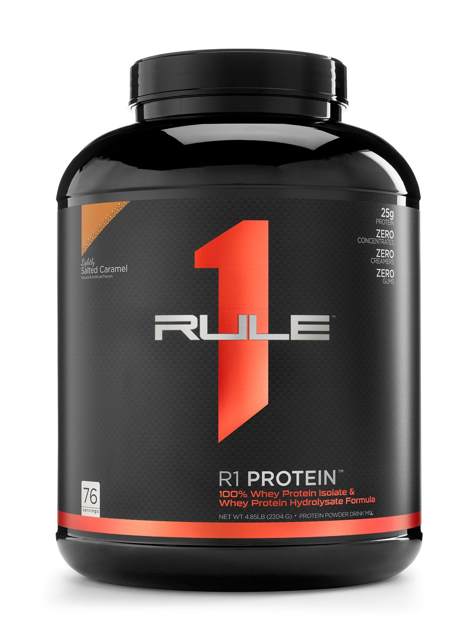 R1 Protein Whey Isolate/Hydrolysate, Rule 1 Proteins (76 Servings, Lightly Salted Caramel)