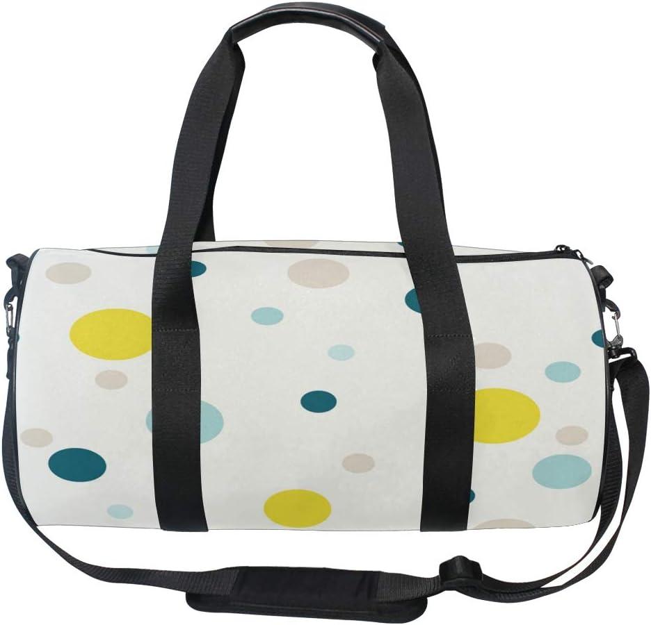 MALPLENA Colorful Dots Drum gym duffel bag women Travel Bag