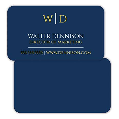 Amazon solid blue background personalized premium business solid blue background personalized premium business cards 250 full color rounded corners custom reheart Images