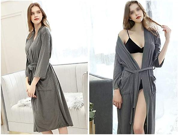 Yangxuelian Batas para Mujeres For Mujer Bata de algodón Traje del Kimono, de Manga Corta con