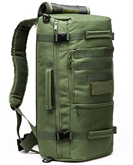 Outdoor Gear Military Tactical Shoulder Bag Rucksack Backpack Camping Hiking Trekking Bags 40L Army Green