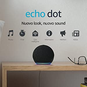 Echo Dot (4ª generazione) - Altoparlante intelligente con Alexa - Antracite
