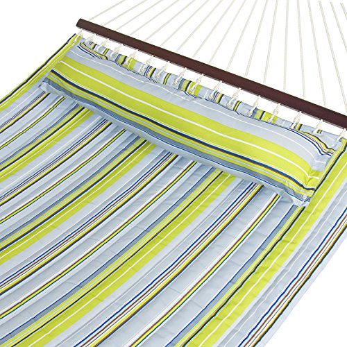 Hammock Quilted Fabric With Pillow Double Size Spreader Bar Heavy Duty Brand - Ireland Debenhams Com