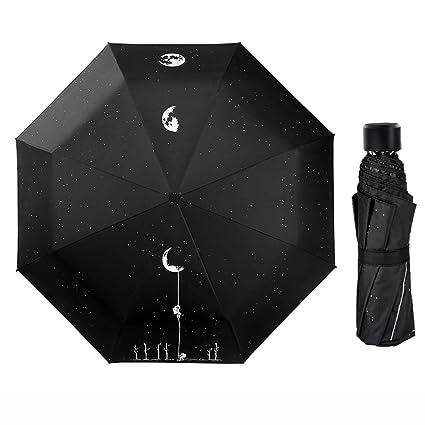 Paraguas Sombrilla Doble Doble Masculino Creativo Minimalista Femenino Creativo QIQIDEDIAN (Diseño : Lunar Exploration -