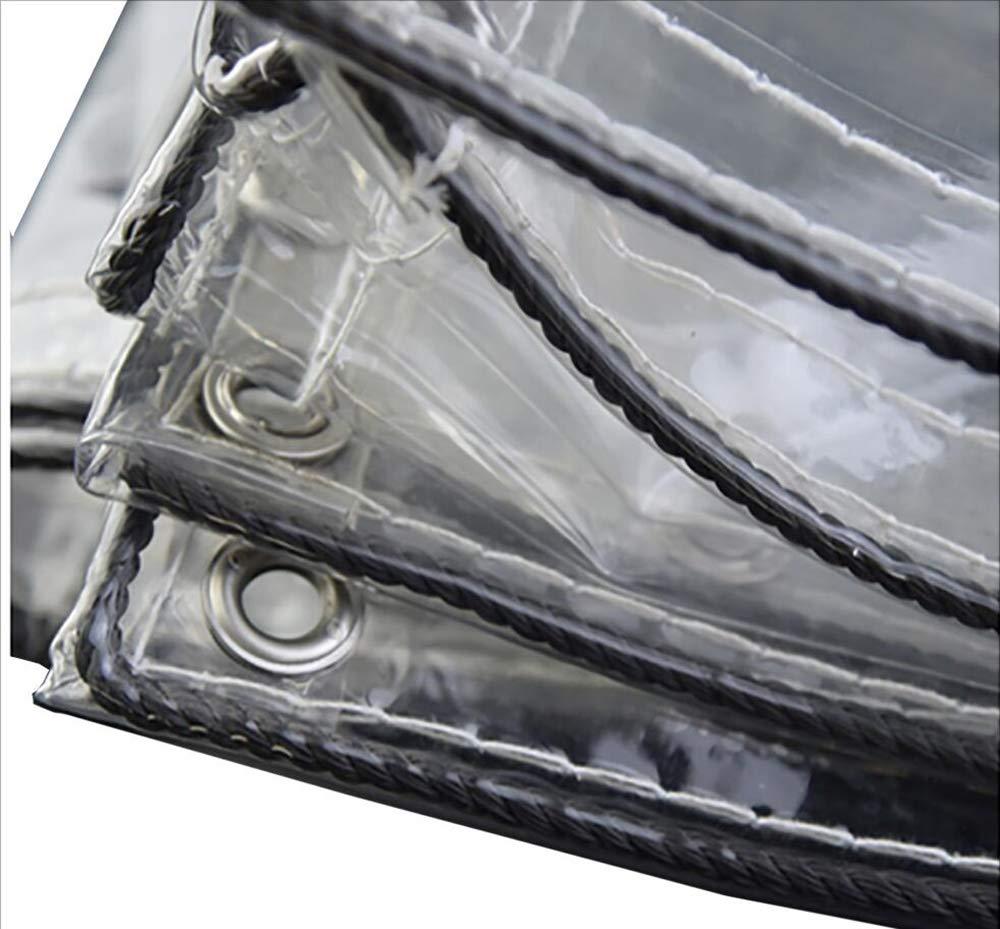 MODYL Transparente PVC-Sonnenschutz-Regenvorhänge Balkonwindschutzscheibe Wasserdichte Segeltuchvorhänge,2mx3m