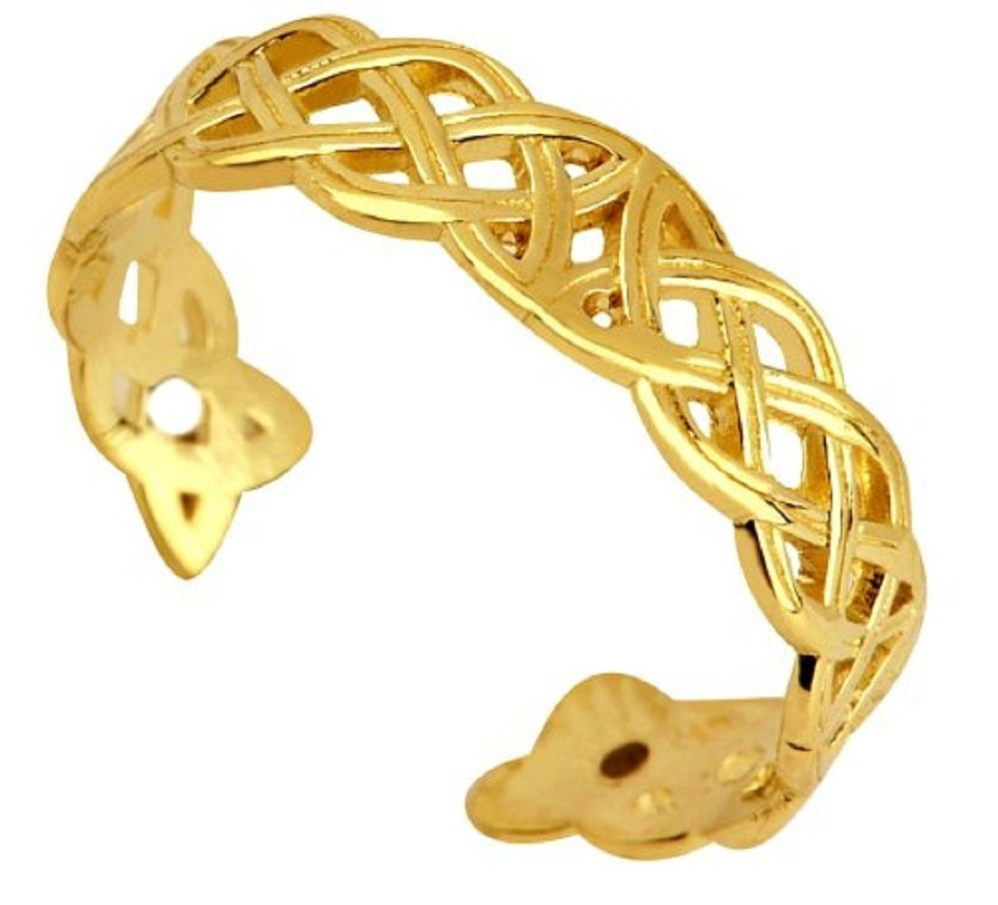 Classic 14k Gold Trinity Toe Ring