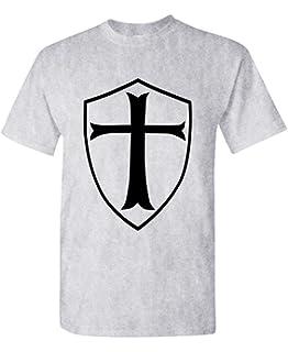 eae12adb3 The Goozler Templar Shield Christian Knight Order - Mens Cotton T-Shirt