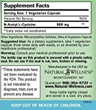 N-acetyl L-cysteine NAC by Natural Wellness Key Antioxidant and Glutathione Precursor - 90 500mg vegetarian capsules Discount