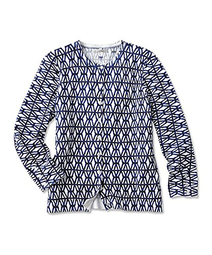 Orvis Women's Trellis-print Cardigan, Small (Orvis Cotton Cardigan)