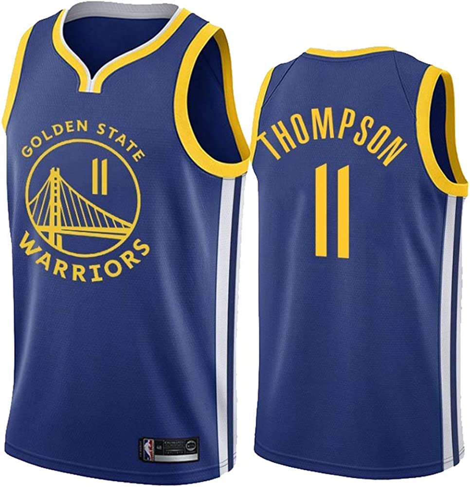 Camiseta de f/útbol 11# Warriors No 11 Clay Thompson 11 ADFA Uniforme de Baloncesto NBA No