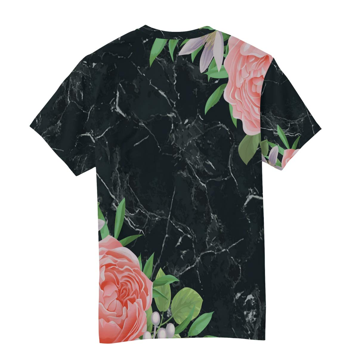 Horatiood Huberyyd Black Marble Pattern Mens T Shirts Graphic Funny Body Print Short T-Shirt Unisex Pullover Blouse