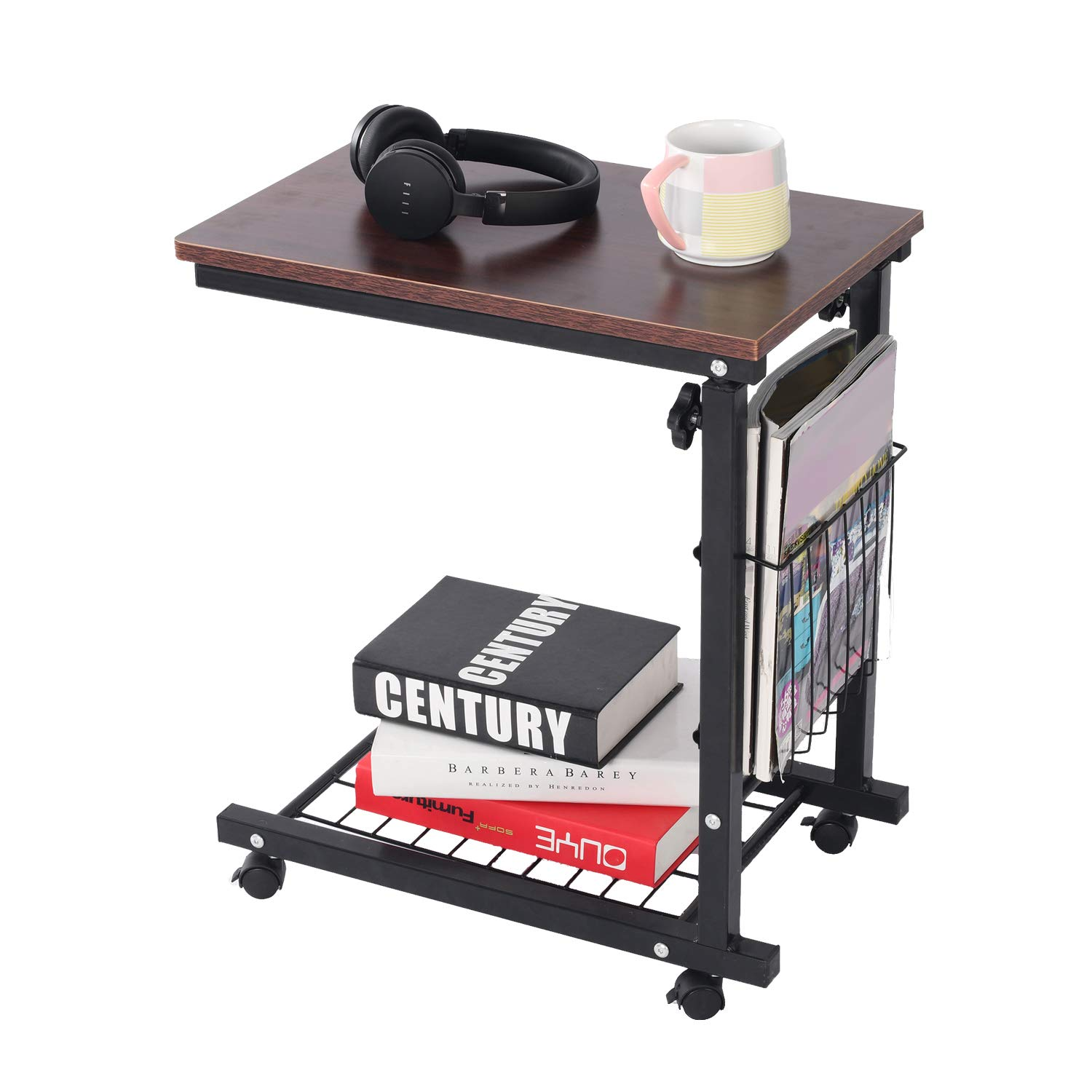 Awesome Qwork Side Table End Table C Table Snack Table Computer Laptop Workstation Coffee Tray Mobile Height Adjustable Desk With Storage For Small Spaces Short Links Chair Design For Home Short Linksinfo