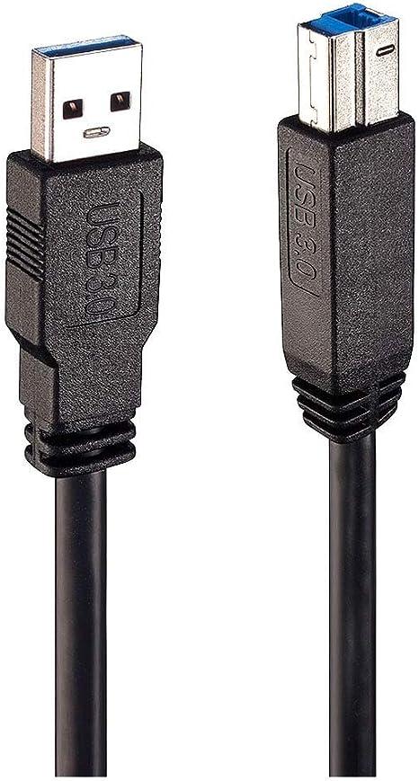 Lindy 43098 - Cable USB (10 m, USB A, USB B, 3.0 (3.1 Gen 1), 5000 ...