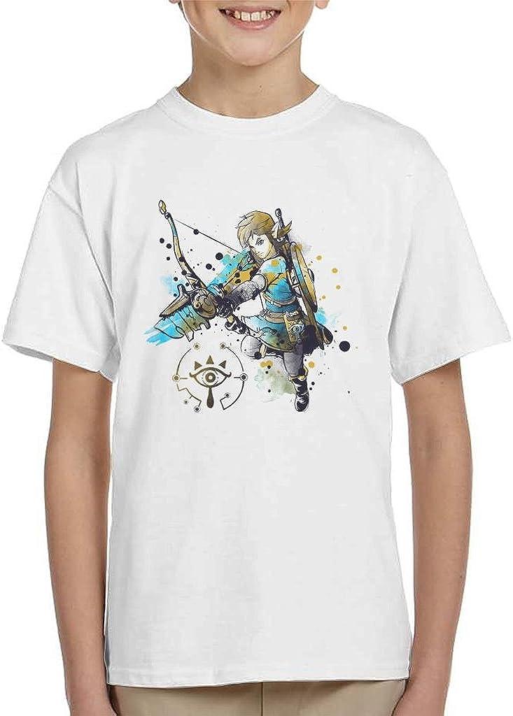 Cloud City 7 Legend of Zelda Link Watercolour Kids T-Shirt
