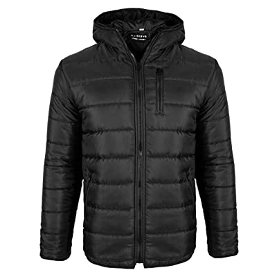 Activave Men's Hooded Packable Light Weight Short Down Jacket, Puffer Coat for Men at Amazon Men's Clothing store