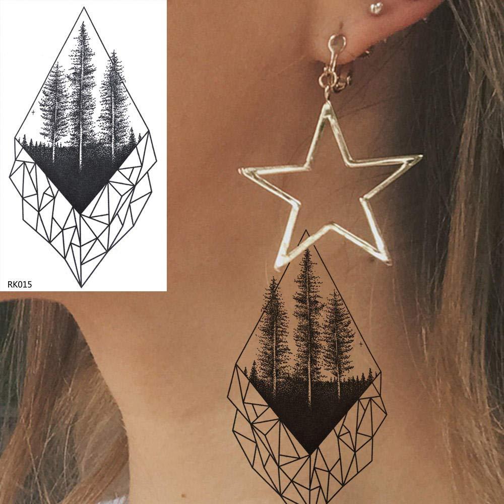 Tatuajes Temporales Diamante Pino Geométrico Tatuajes Temporales ...