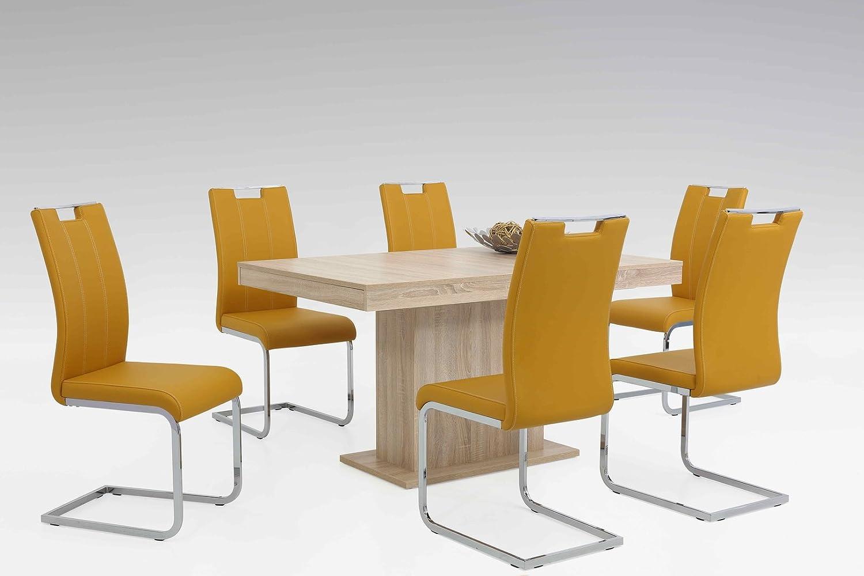 Tischgruppe Lübeck in Kunstleder mit Tisch und Stühlen Modern
