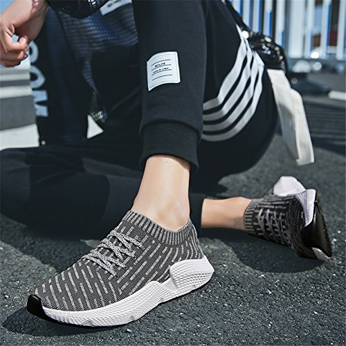 Running Fexkean Ginnastica Sneakers Donna Sport Basse Sportive Unisex Da Adulto Outdoor Sarpe Grigio Uomo Basket wn0XqArZx0