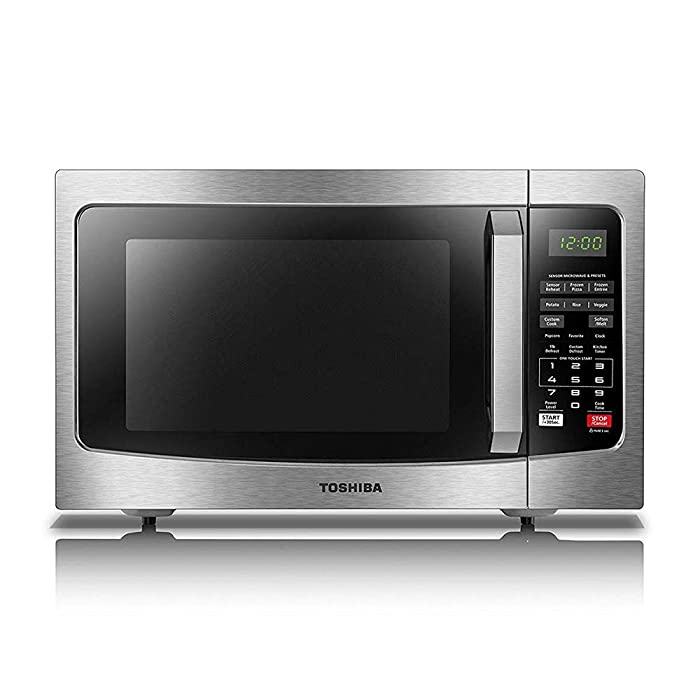 ToshibaEM131A5C-SS Microwave Oven with Smart Sensor, Easy Clean Interior, ECO Mode and Sound On/Off, 1.2 Cu.ft, 1100W, Stainless Steel