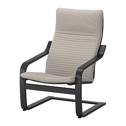 Brilliant Amazon Com Ikea Poang Armchair Black Brown Knisa Light Bralicious Painted Fabric Chair Ideas Braliciousco