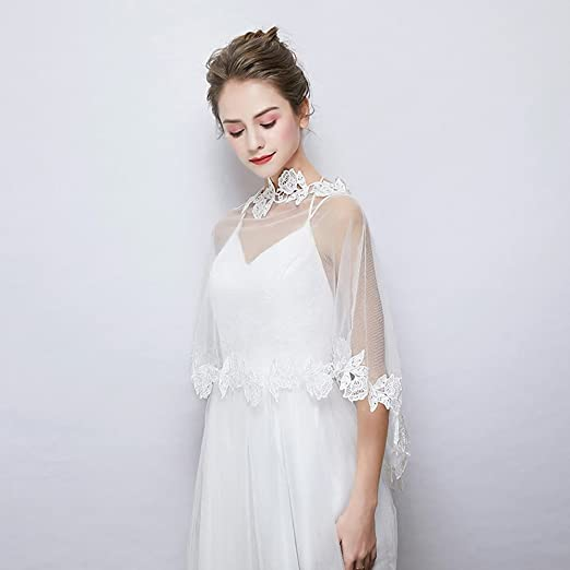 Sleeveless Tulle Wedding Party Evening Womens Wrap With Lace Capes: Amazon.co.uk: Kitchen & Home