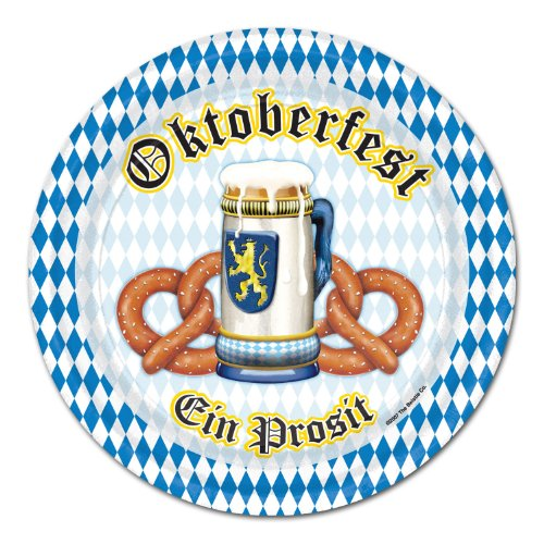 [Oktoberfest Plates   (8/Pkg)] (Oktoberfest Costumes Party City)